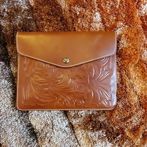 Patricia Nash large leather clutch